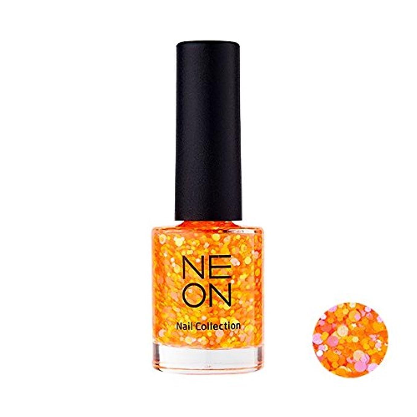 インタフェース見る経済It'S SKIN Neon nail collection [03 Neon Glitter Orange] イッツスキン ネオンネイルコレクション [03 ネオン グリッター オレンジ] [並行輸入品]