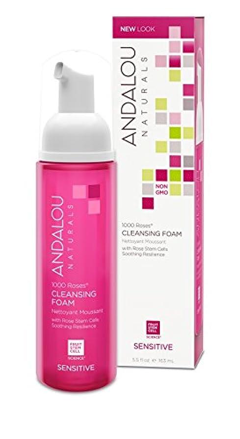 風変わりなに話すストッキングオーガニック ボタニカル 洗顔料 洗顔フォーム ナチュラル フルーツ幹細胞 「 1000 Roses® クレンジングフォーム 」 ANDALOU naturals アンダルー ナチュラルズ