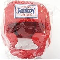 WINDY ウインディ 本革製 キックボクシング ヘッドギア ヘッドガード 赤 Mサイズ