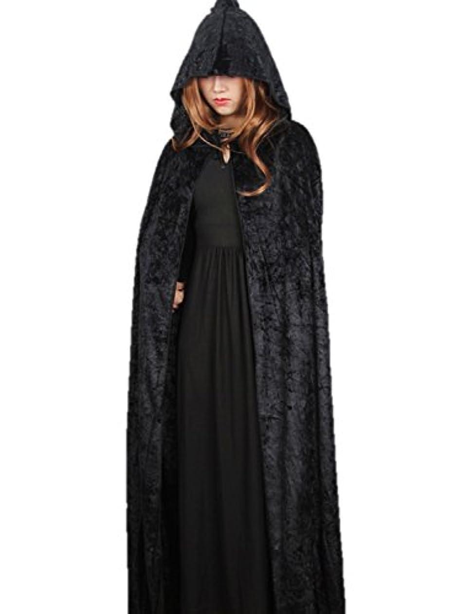 ごちそう意味ビスケット【コスプレ】 マント 吸血鬼 魔女 ヴァンパイア ドラキュラ フード付き ブラック