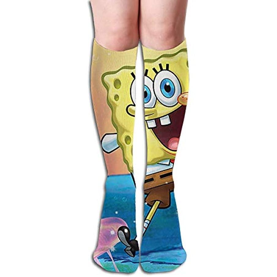 暴徒農村回想qrriyスポンジボブスカーピー海チューブストッキングレディース冬暖かい膝ハイソックスブーツ靴下