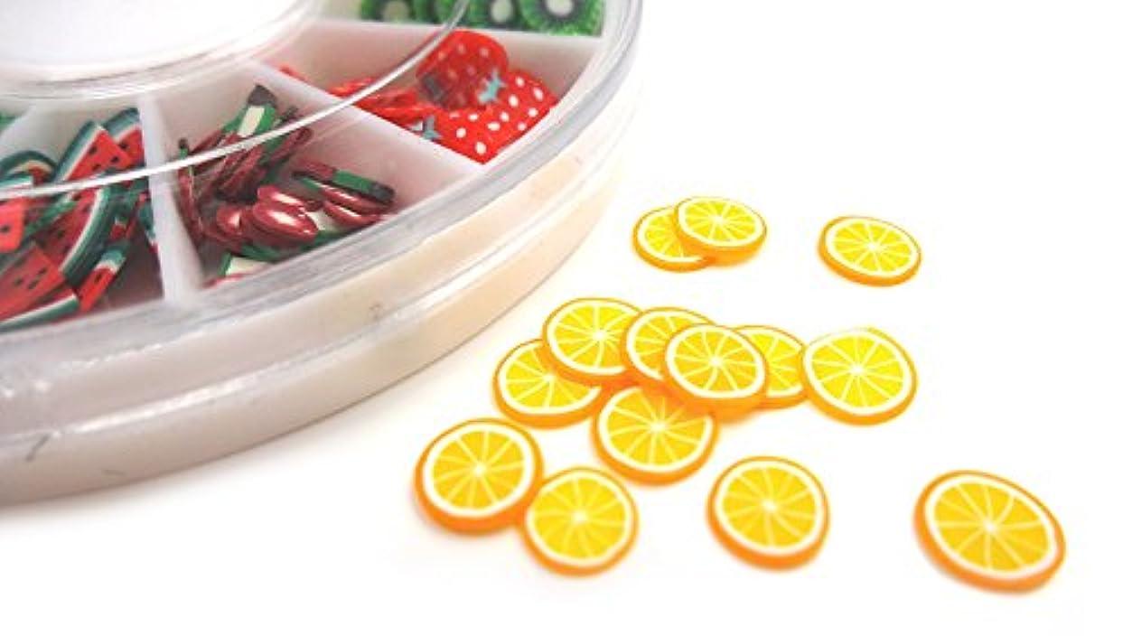騒々しいサンダル食器棚【HARU雑貨】スライスパーツ フルーツ 12種類セット/ケース付き/ネイル アクセサリー デコパーツ