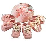 (コーラルウェー)Coral Way ベビーソックス 3足セット 出産祝い かわいい 新生児 お祝い 部屋履き靴下 赤ちゃん靴下 滑り止め付き 可愛い 女の子 キズ 柔らかい 0-3歳