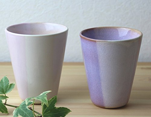 萩焼 陶器  Shikisai ペアカップ ギフトボックス 木箱入り