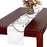 GGSXD テーブルランナー かわいい 白いうさぎ クロス 食卓カバー 麻綿製 欧米 おしゃれ 16 Inch X 72 Inch (40cm X 182cm) キッチン ダイニング ホーム デコレーション モダン リビング 洗える