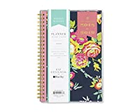 Day Designer for Blue Sky 2018-2019 Academic Year Weekly & Monthly Planner Flexible Cover Twin-Wire Binding 5 x 8 Peyton Navy Design [並行輸入品]