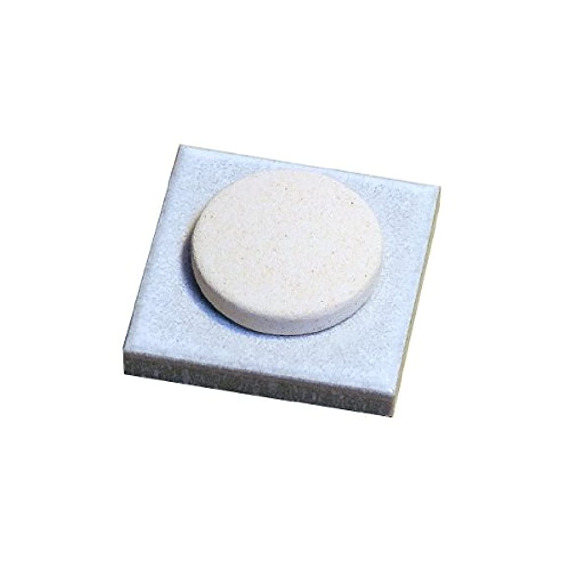 ライン分子放置〔立風屋〕珪藻土アロマプレート美濃焼タイルセット ホワイト(白) RPAP-01003-WT