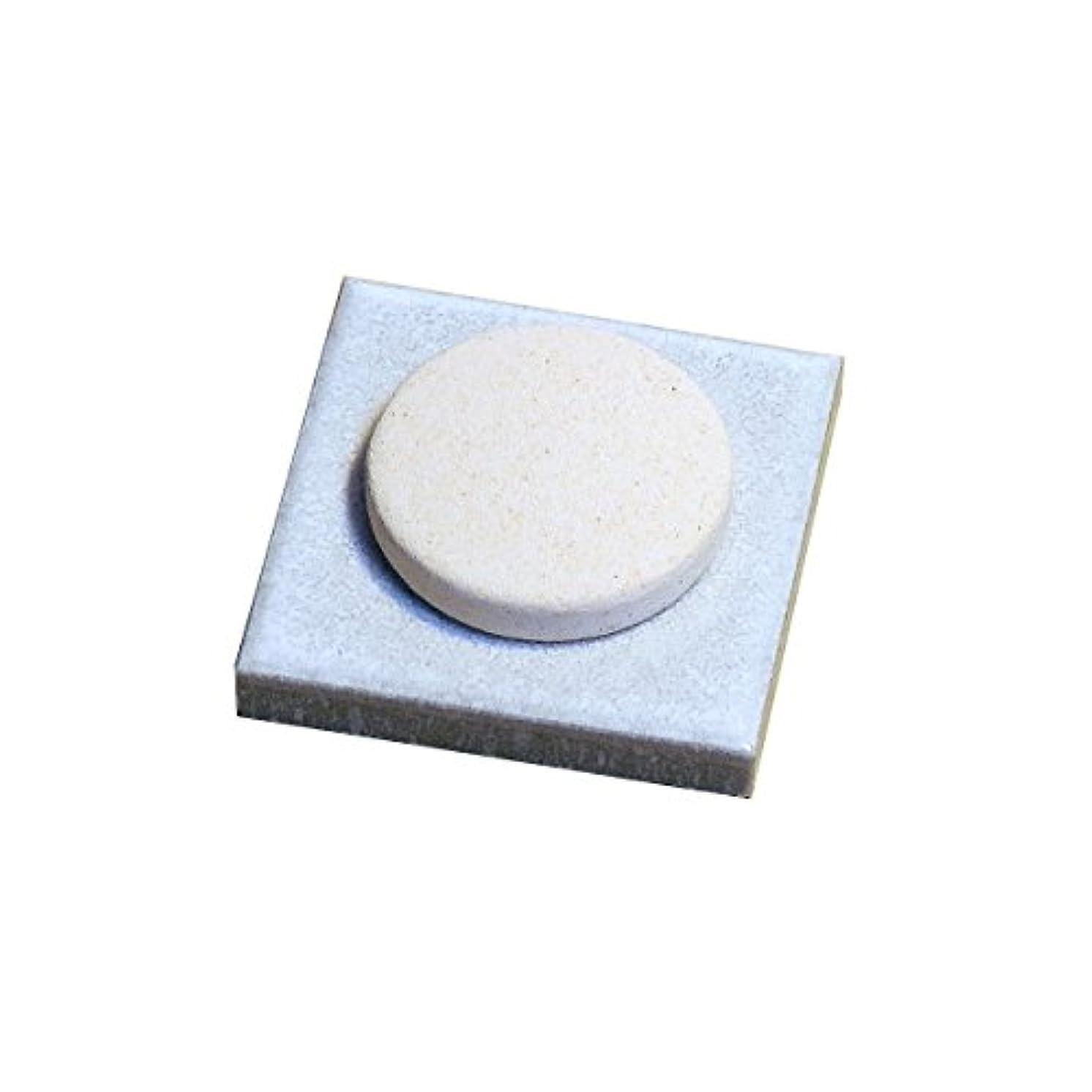 レンチ草女性〔立風屋〕珪藻土アロマプレート美濃焼タイルセット ホワイト(白) RPAP-01003-WT