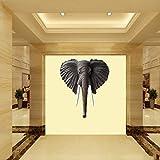壁の彫刻象の壁掛け、グラスファイバー樹脂、シミュレーション、家の装飾に適していますリビングルームパティオホテル、ブラウン 画像