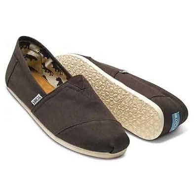 [トムス シューズ] Toms Shoes メンズ クラシック キャンパス スリッポン Men's Classics [並行輸入品] (8.5, CHOCOLATE)