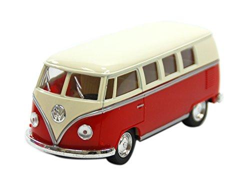KiNSMART 1:32 フォルクスワーゲン バス レッド ウィンドウボックス 200-525
