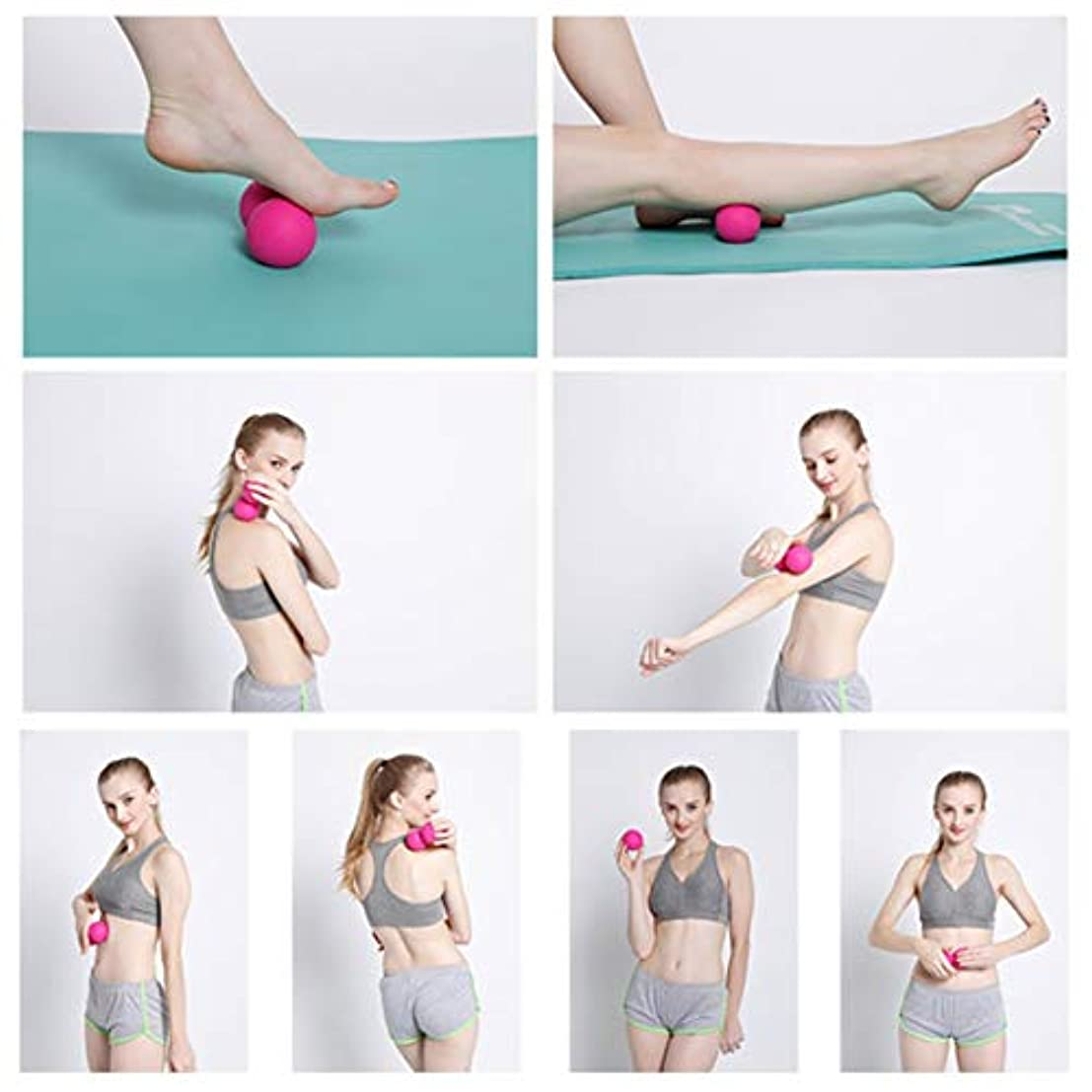 冒険家診療所発掘するTPE Peanut Fascia Massage Relax Muscle Gym Training Body Pain Relief Hockey Ball Fatigue Training Double Ball...