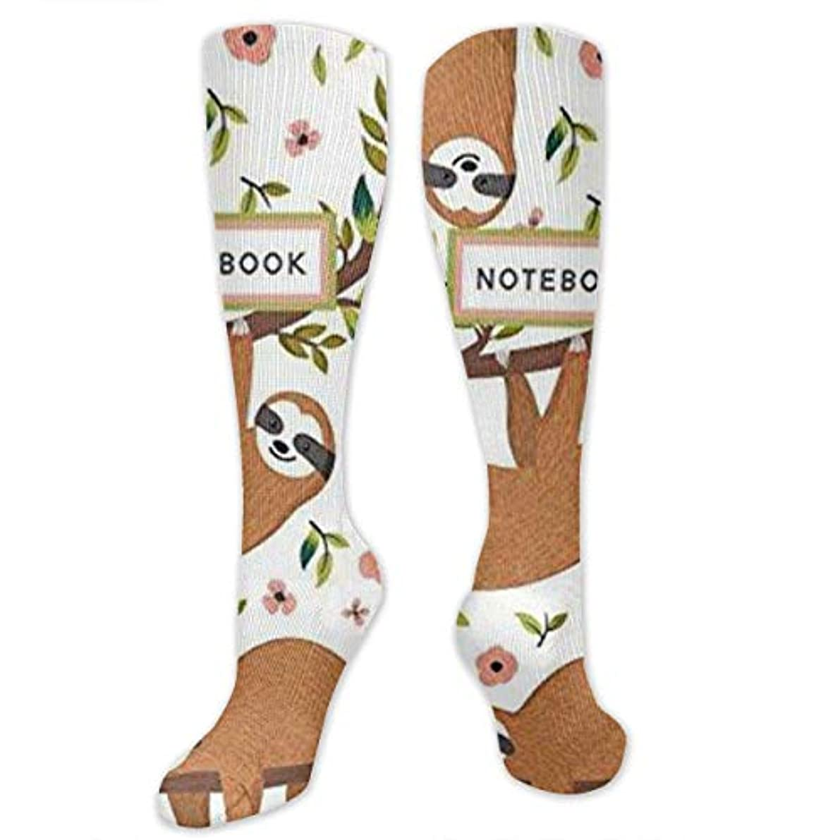 混沌キッチン浸漬靴下,ストッキング,野生のジョーカー,実際,秋の本質,冬必須,サマーウェア&RBXAA Pet Animal Sloth Socks Women's Winter Cotton Long Tube Socks Knee...