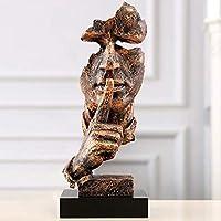 創造的なリビングルームアート装飾沈黙は金の思想家の彫刻ヴィンテージ樹脂工芸品の装飾品です。
