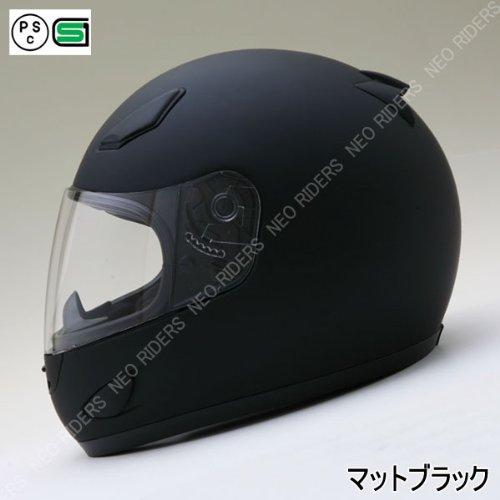 NEO-RIDERS (ネオ ライダース) FX7 フルフェイス ヘルメット マットブラック XXLサイズ SG/PSC FX7 B00GNU9MDC 1枚目