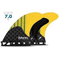 FUTURES FINS(フューチャーズフィンシステム) ジェネレーション ハニカム トライ クアッド 5本セット GENERATION V2 F4 5-FIN CARBON/YELLOW