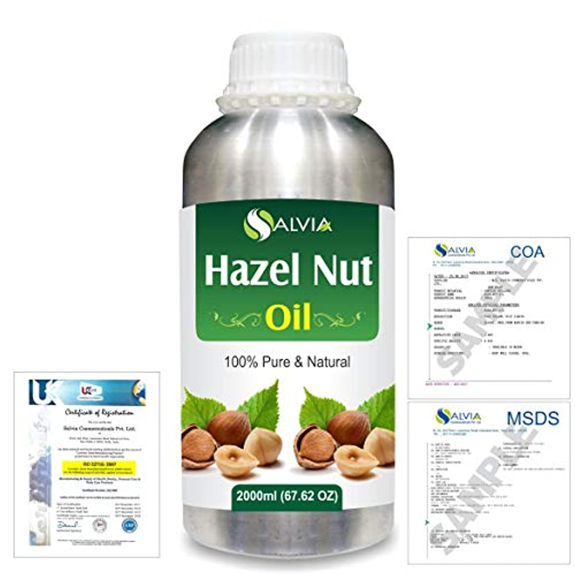 本物ステップリズムHazel Nut (Corylus avellana) 100% Natural Pure Essential Oil 2000ml/67 fl.oz.