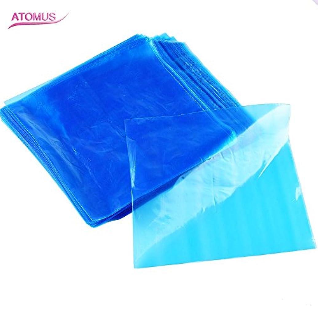 小石部族アクティビティATOMUS 200個 タトゥーマシンカバーバッグクリップ 使い捨て 青 ブプラスチック タトゥーマシンペン スリーブ 2種類の選択可能 (タイプ1)