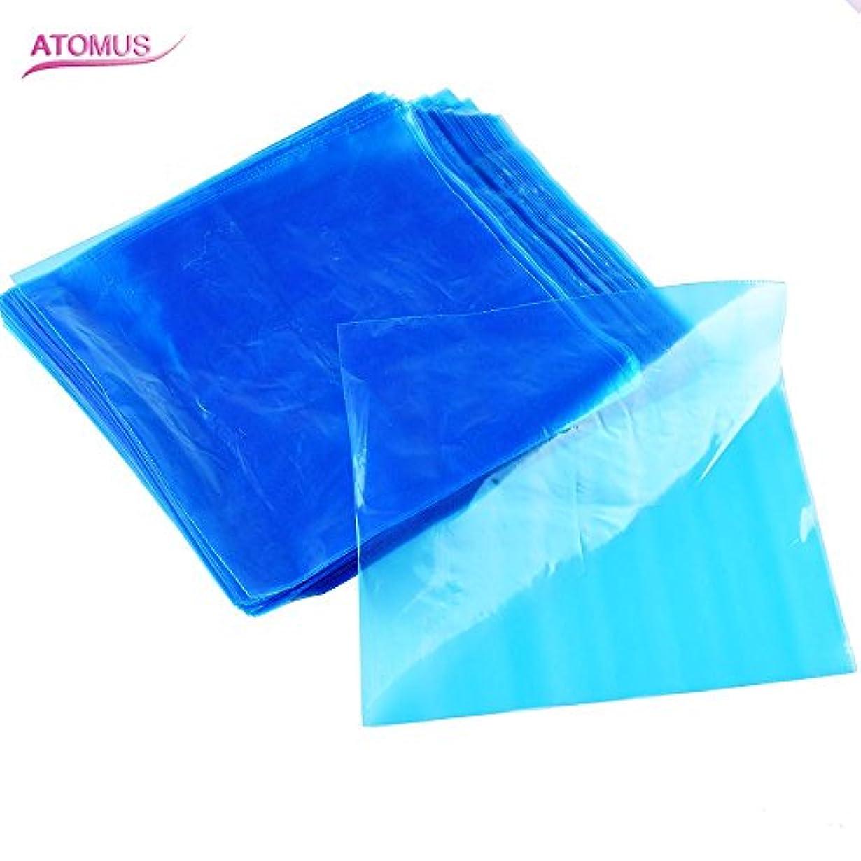 倉庫反対したバストATOMUS 200個 タトゥーマシンカバーバッグクリップ 使い捨て 青 ブプラスチック タトゥーマシンペン スリーブ 2種類の選択可能 (タイプ1)