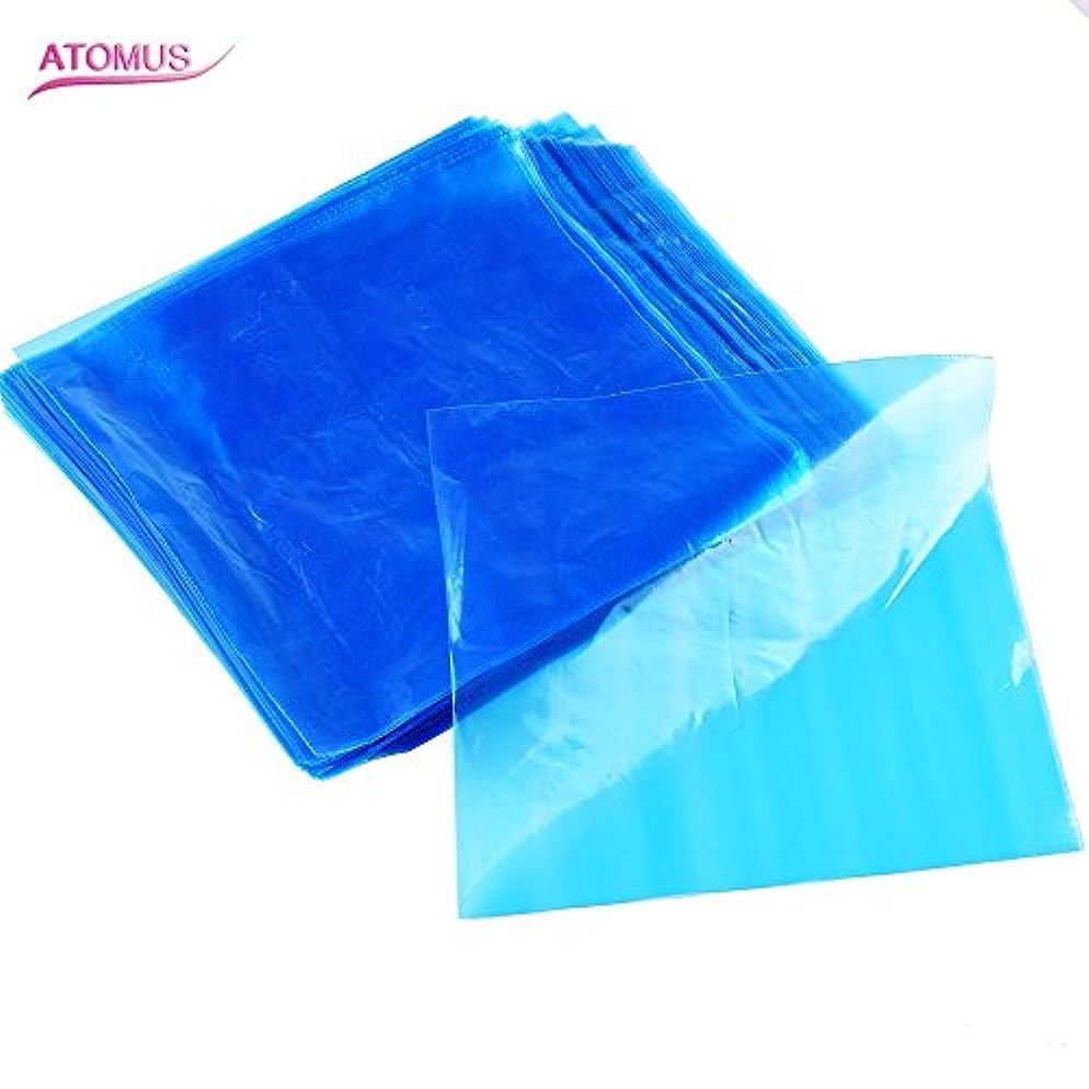 ごちそうやる協力的ATOMUS 200個 タトゥーマシンカバーバッグクリップ 使い捨て 青 ブプラスチック タトゥーマシンペン スリーブ 2種類の選択可能 (タイプ1)