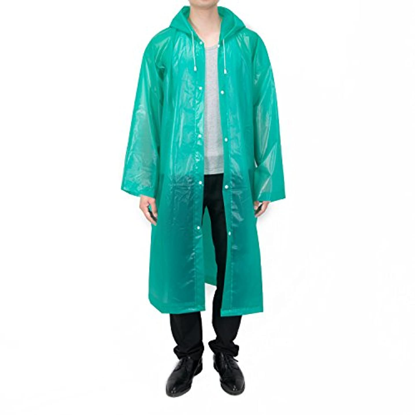 技術ペルソナ火曜日VANCOOLファッション耐久性Eva雨コート雨ポンチョユニセックスメンズレディースwithフードと袖、再利用可能な、ポータブル、折りたたみ式。