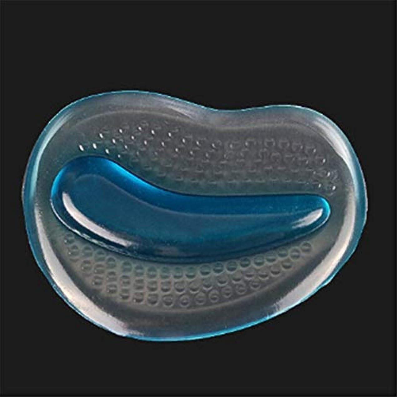 小切手ジャニスアブストラクト2PCSシリコンフォアフットパッドフットケアインソールインサートマッサージャーハイヒールアンチスリップパッド Shangxiangtrade (Color : 青)