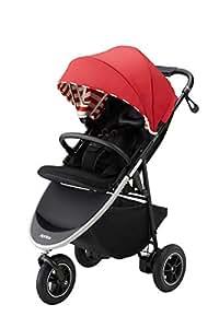 アップリカ 3輪ベビーカー Smooove AD スムーヴAD (ハンドブレーキ・新生児から使える) 別売トラベルシステム対応 オートレッドボーダー 1か月~ (1年保証) 2084457