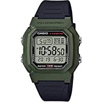 Casio W-800HM-3AV Classic Black & Green Youth Series Unisex Digital Sports Watch