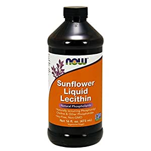 海外直送品Sunflower Liquid Lecithin, 16 Fl Oz by Now Foods
