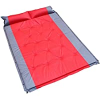 vrcocoアウトドアダブルself-inflatable Camping Sleepingインフレータブル枕旅行ハイキング用防水パッド/マットwith Air Sleeping Pad for 2 Person、75.9 X 53.2 X 1.2inches ( 1個,レッド)