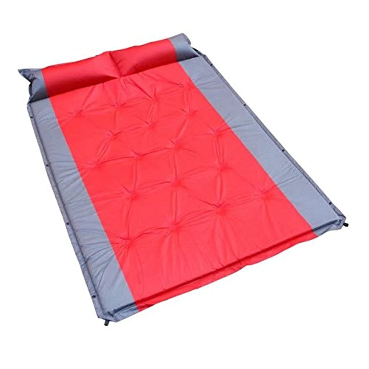 十分な不満任命するvrcocoアウトドアダブルself-inflatable Camping Sleepingインフレータブル枕旅行ハイキング用防水パッド/マットwith Air Sleeping Pad for 2 Person、75.9 X 53.2 X 1.2inches ( 1個,レッド)