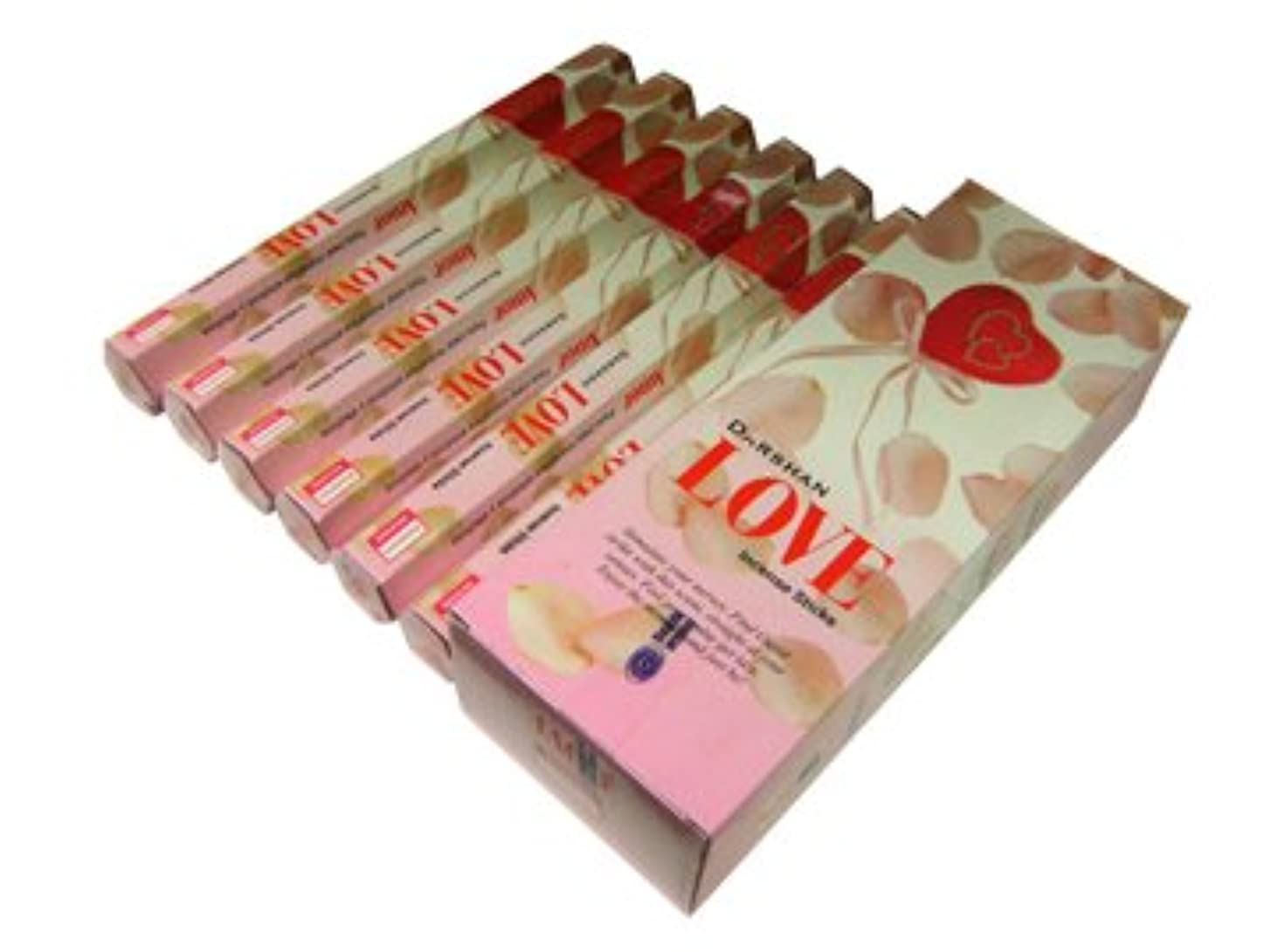 おなじみの感嘆ジャンピングジャックDARSHAN(ダルシャン) ラブ香 スティック LOVE 6箱セット