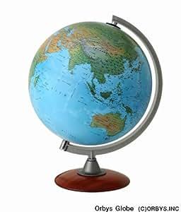 ORBYS 地球儀 30cm 地勢図 日本語 スペース30