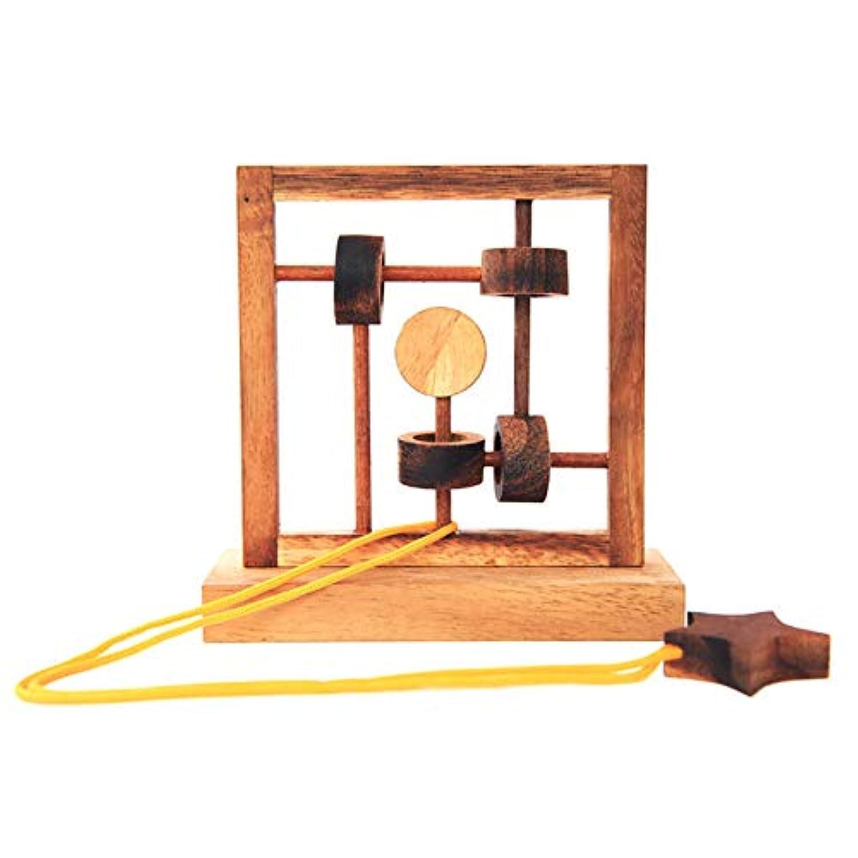 減圧のおもちゃ教育的な取り外し可能な子供のロックを解除するスタームーンゲームアセンブリ面白い14.5 * 15 * 9センチメートル