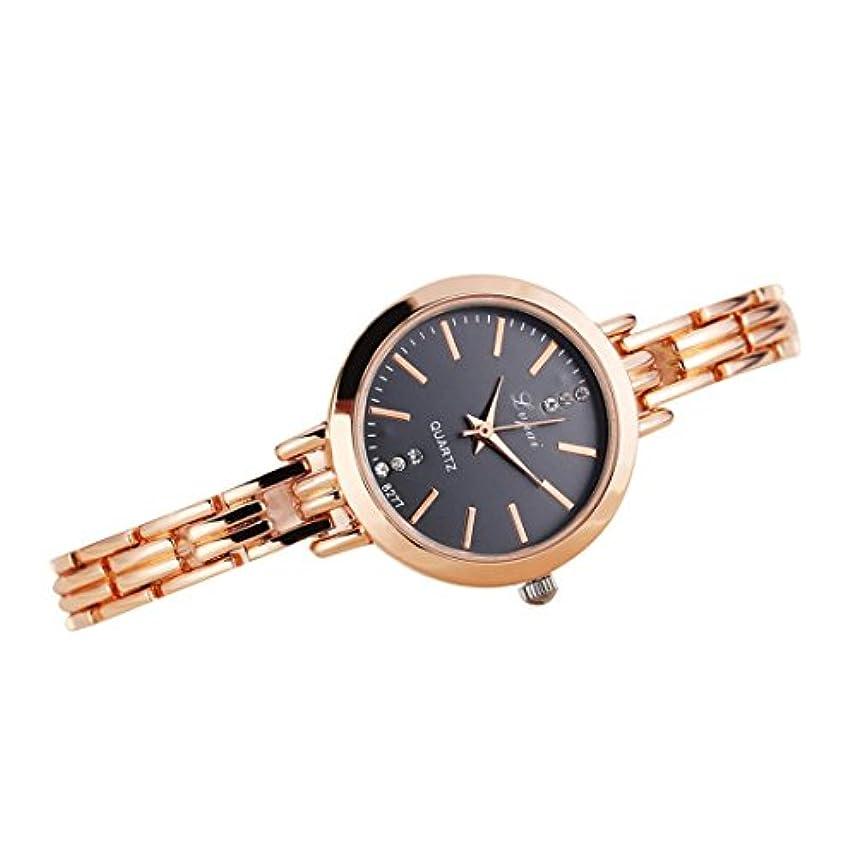 アイザック家庭金貸しクリアランス!!!レディース腕時計, jushyeレディースガールズ腕時計ブレスレットMontre腕時計シンプルなホット気質ローズゴールドクラシックWomens Quartz Watchステンレススチール マルチカラー