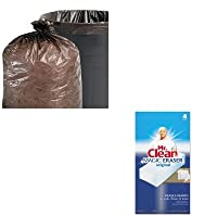 kitpag82027stot3340b13–Valueキット–Stout 100%再生プラスチックGarbage Bags ( stot3340b13) and Mr。Cleanマジック消しゴムFoam Pad ( pag82027)