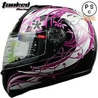 バイクヘルメット フルフェイス T160 レディース メンズ オートバイ PSC付き 女性 ヘルメット 冬 暖か 桜 【商品1/M】