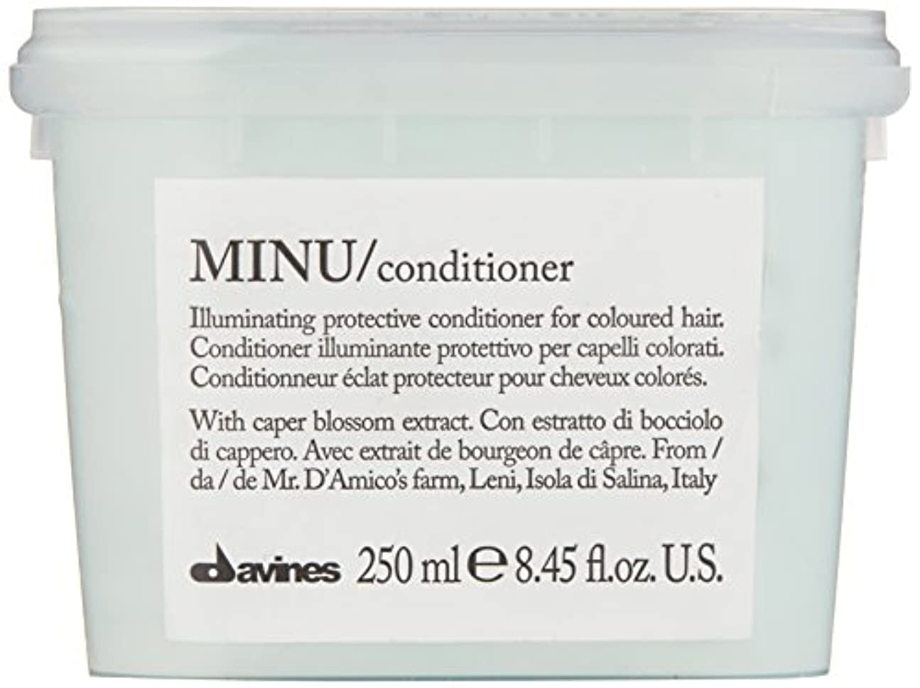 寛大な唇前ダヴィネス Minu Conditioner Illuminating Protective Conditioner (For Coloured Hair) 250ml/8.45oz並行輸入品
