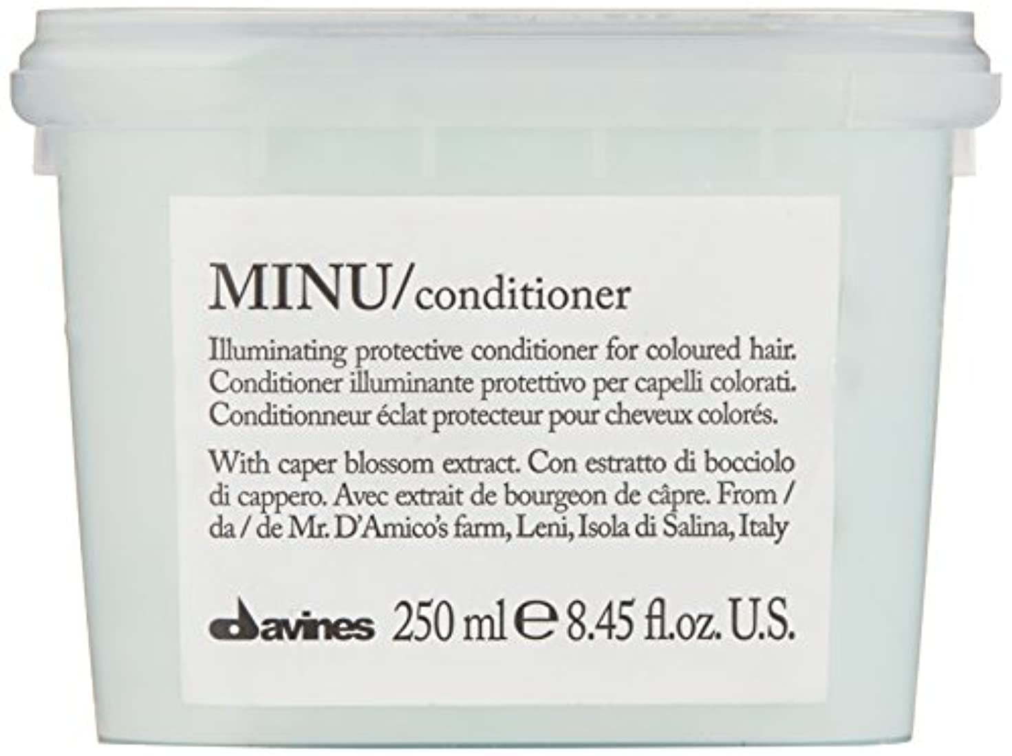 伝統険しい柔らかい足ダヴィネス Minu Conditioner Illuminating Protective Conditioner (For Coloured Hair) 250ml/8.45oz並行輸入品