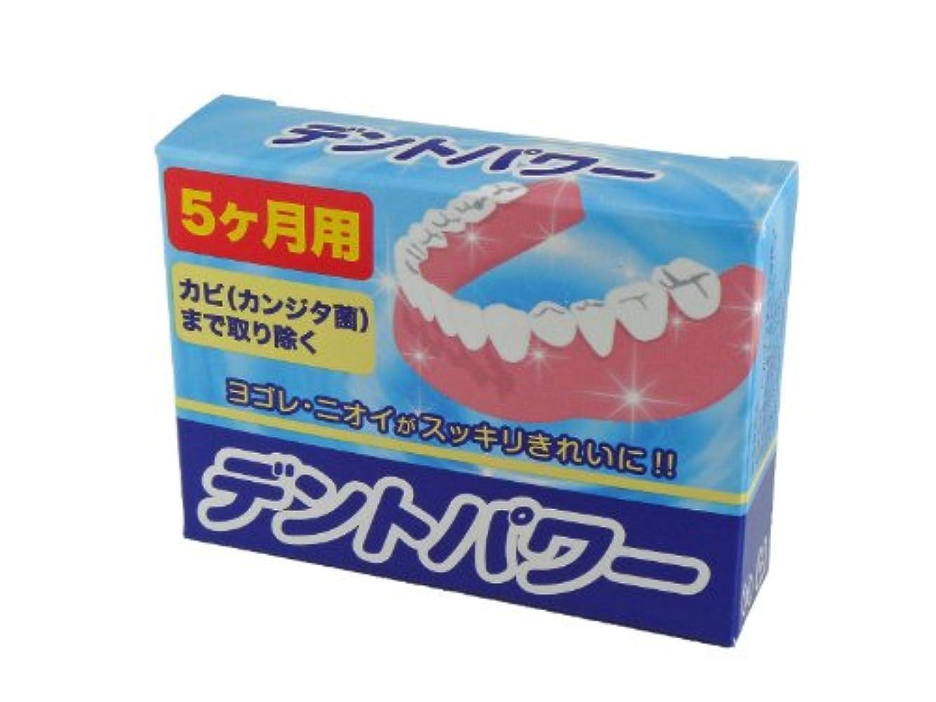 却下する発音カリング入れ歯洗浄剤 デントパワー 5ヶ月用 20包入