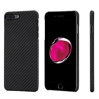 PITAKA アラミド ファイバー iPhone7plusケース 防弾チョッキ素材 極薄 超軽量 超頑丈 耐衝撃 高耐久性 ミニマリスト カーボン柄 黒 灰 ブラック グレー ピタカ