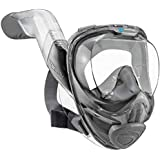 Seaview 180° V2 Full Face Snorkel Mask with FLOWTECH Advanced Breathing System - Allows for A Natural & Safe Snorkeling Experience - Panoramic Side Snorkel Set Design for 50 Percent Easier Breathing