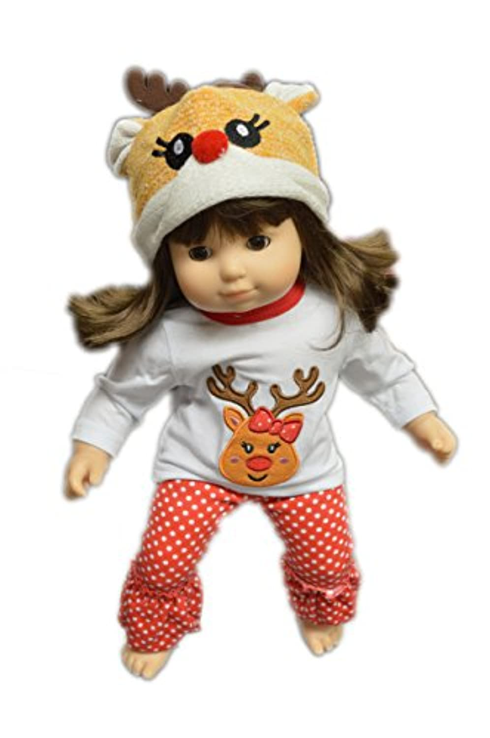 My Brittany's Reindeer Pj Lounge Set for Bitty Twins