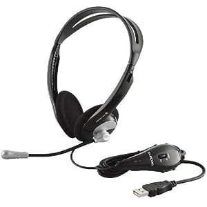 【2009年モデル】ELECOM USBヘッドセットマイクロフォン オーバーヘッド 両耳 シルバー 【PS4対応】 (PS3対応) HS-HP06USV