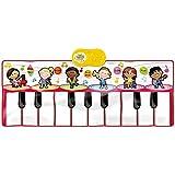 KTYXDE ダンスペダル電子ピアノ幼児赤ちゃんピアノ毛布誕生日プレゼント音楽おもちゃ キッズキーボードピアノ (Color : Red)