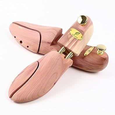 [ナチュラルスタッフ] シューキーパー 木製 メンズ レッドシダー 脱臭 消臭 除湿 型崩れ防止 革靴 シューツリー (25cm~25.5㎝)