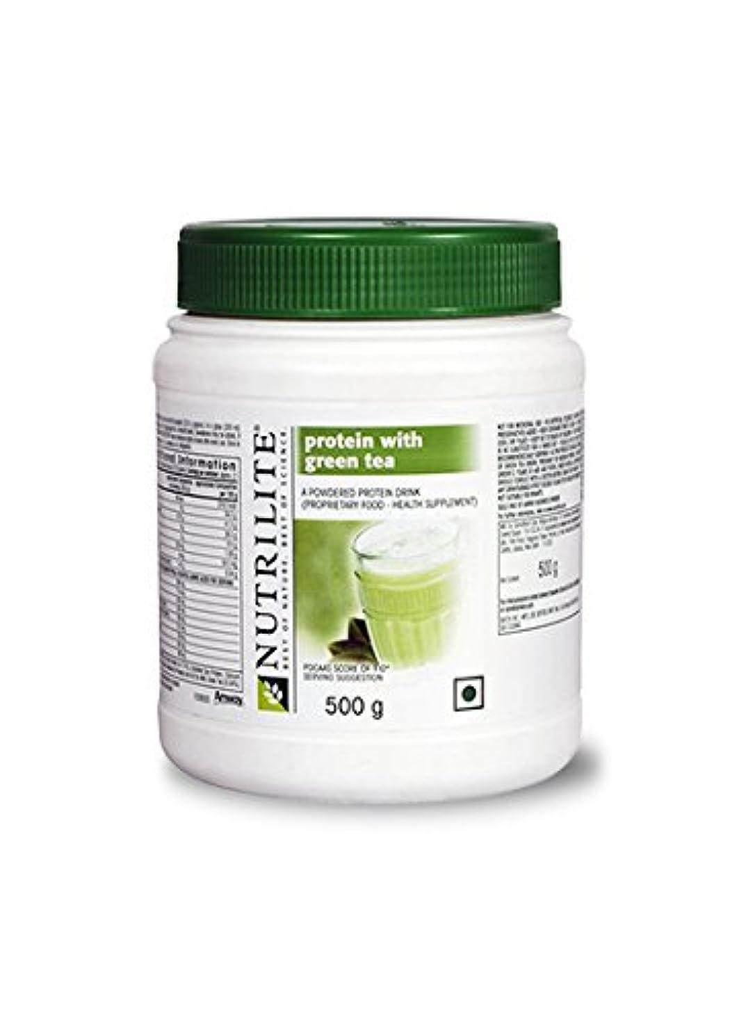 メイエラ過度に機構Nutrilite Protein Powder Withグリーンティー( 500ミリグラム)