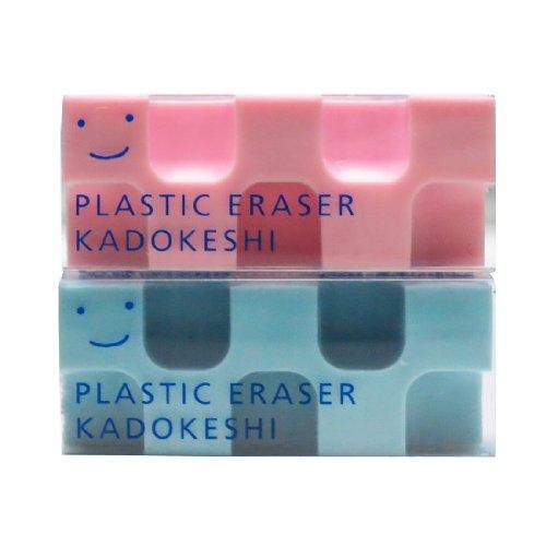 コクヨ 消しゴム カドケシプチ 鉛筆用 ピンク・ブルー ケシ-U750-3