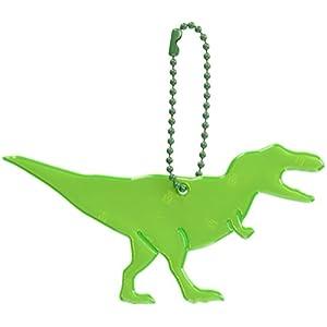 グリミス Glimmis ティラノサウルス グリーン GR 北欧 リフレクター 反射 キーホルダー 再帰反射素材 3M