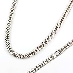 ラプラス laplace ネックレス 喜平 チェーン 【 シルバー 6面ダブル 中折れ式 】 50cm 幅5.7mm